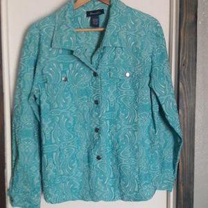 Turquoise colored jacket